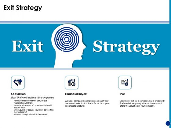 Generating Financial Support Exit Strategy Ppt Show Outfit PDF