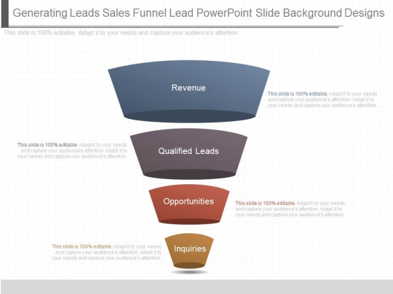 Generating Leads Sales Funnel Lead Powerpoint Slide Background Designs