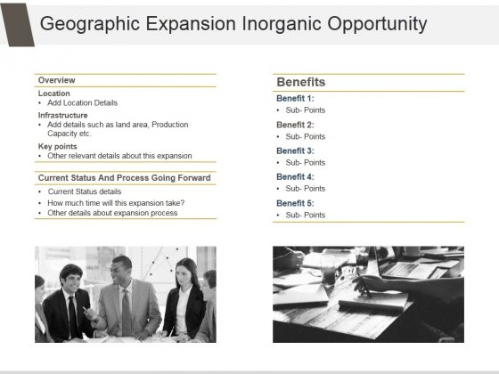 Geographic Expansion Inorganic Opportunity Ppt PowerPoint Presentation Slides