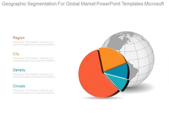 Geographic Segmentation For Global Market Powerpoint Templates Microsoft