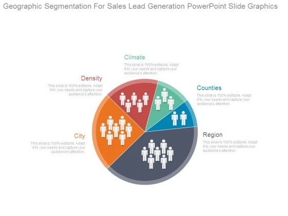 Geographic Segmentation For Sales Lead Generation Powerpoint Slide Graphics