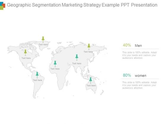 Geographic Segmentation Marketing Strategy Example Ppt Presentation