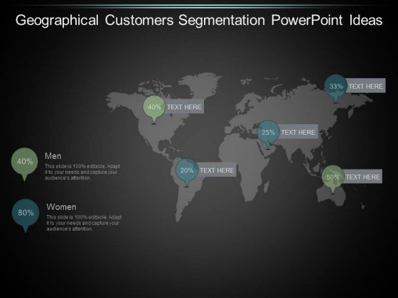 Geographical Customers Segmentation Powerpoint Ideas