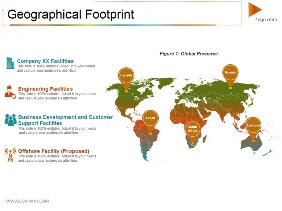 Geographical Footprint Ppt PowerPoint Presentation Icon Design Inspiration