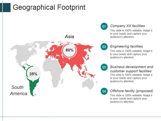 Geographical Footprint Ppt Powerpoint Presentation Icon Sample