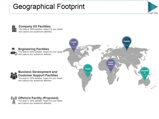 Geographical Footprint Ppt PowerPoint Presentation Ideas