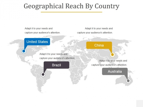 Geographical Reach By Country Ppt PowerPoint Presentation Portfolio Graphic Images