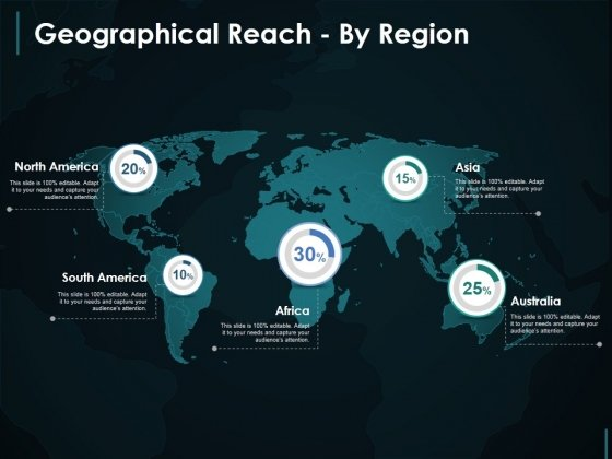 Geographical Reach By Region Template 1 Ppt PowerPoint Presentation Show Picture