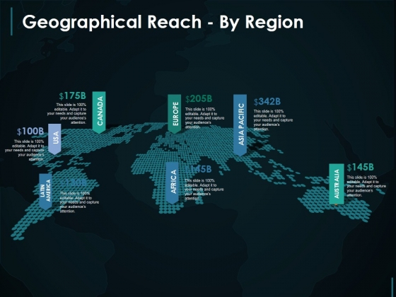 Geographical Reach By Region Template 2 Ppt PowerPoint Presentation Professional Elements