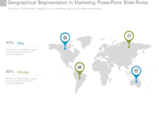 Geographical Segmentation In Marketing Powerpoint Slide Rules