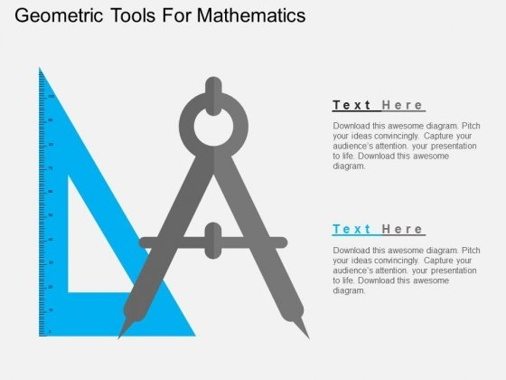 Geometric Tools For Mathematics Powerpoint Templates
