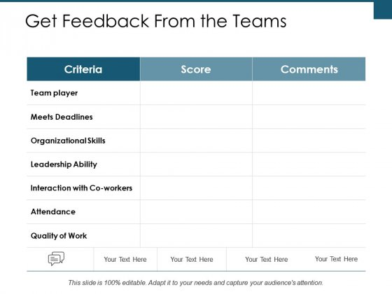 Get Feedback From The Teams Ppt PowerPoint Presentation Ideas Layout Ideas