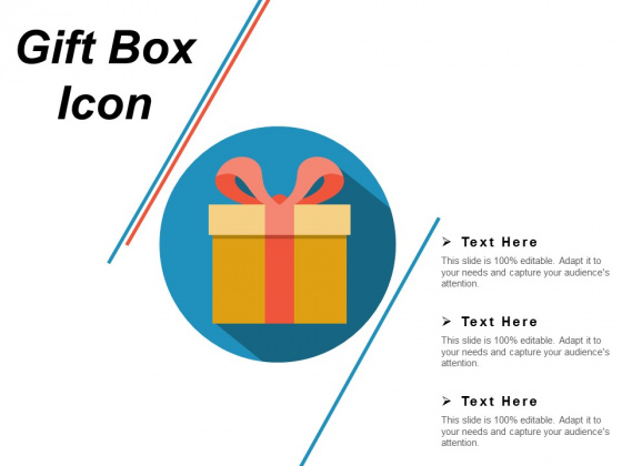 Gift Box Icon Ppt PowerPoint Presentation Outline Background Images