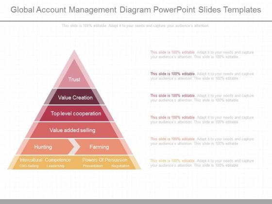 Global Account Management Diagram Powerpoint Slides Templates