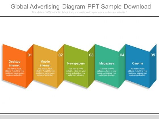 Global Advertising Diagram Ppt Sample Download