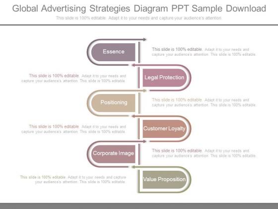Global Advertising Strategies Diagram Ppt Sample Download