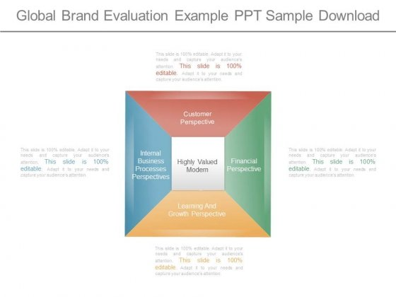 Global Brand Evaluation Example Ppt Sample Download
