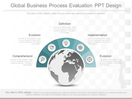 Global Business Process Evaluation Ppt Design