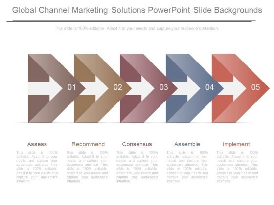 Global Channel Marketing Solutions Powerpoint Slide Backgrounds