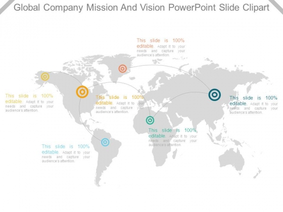 Global Company Mission And Vision Powerpoint Slide Clipart
