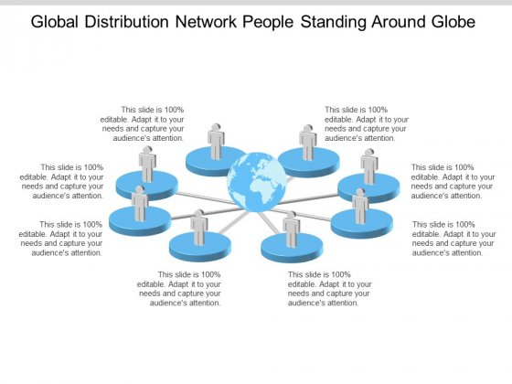 Global Distribution Network People Standing Around Globe Ppt Powerpoint Presentation Outline Outfit