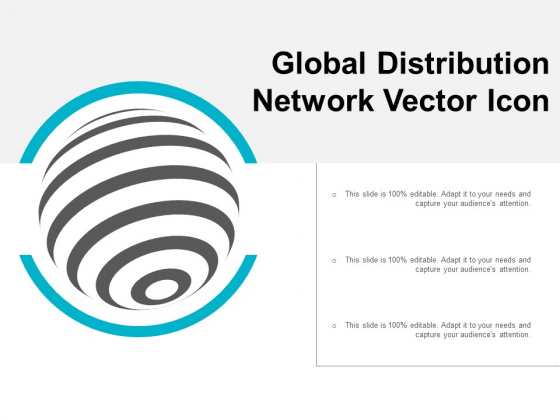 Global Distribution Network Vector Icon Ppt PowerPoint Presentation Professional Clipart