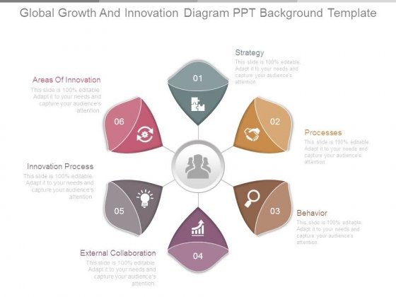 Global Growth And Innovation Diagram Ppt Background Template