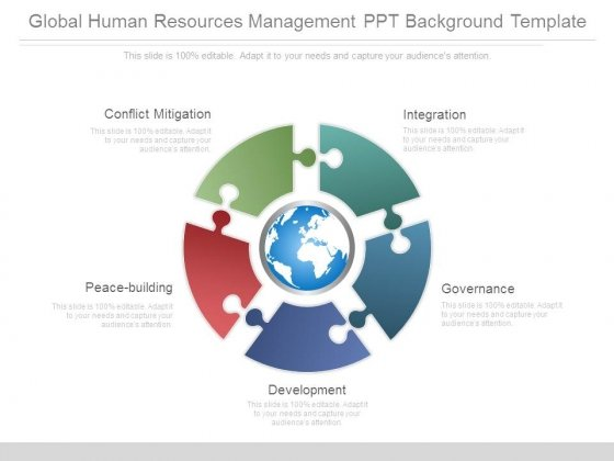 Global Human Resources Management Ppt Background Template