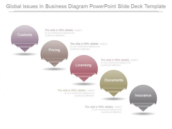 Global Issues In Business Diagram Powerpoint Slide Deck Template