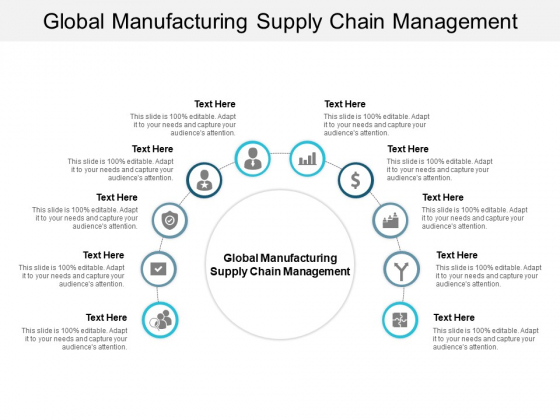 Global Manufacturing Supply Chain Management Ppt PowerPoint Presentation Ideas Layout Cpb