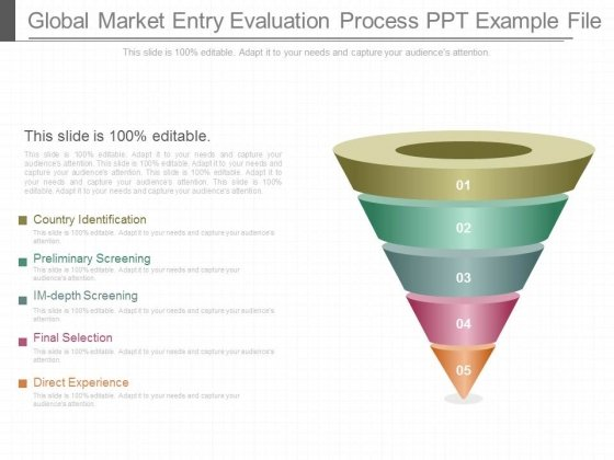 Global Market Entry Evaluation Process Ppt Example File