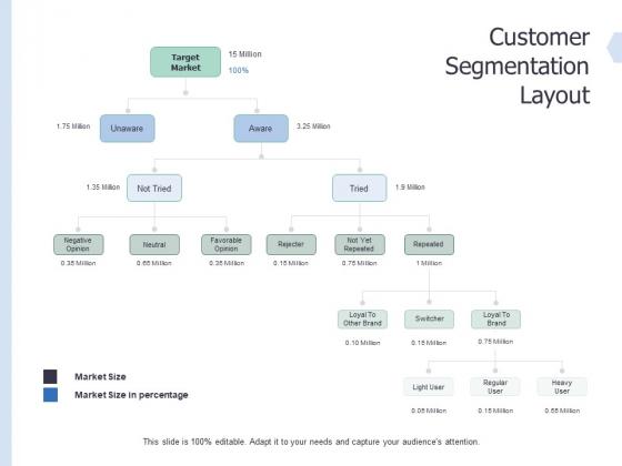 Global Market Segmentation Customer Segmentation Layout Ppt PowerPoint Presentation Show Guide PDF