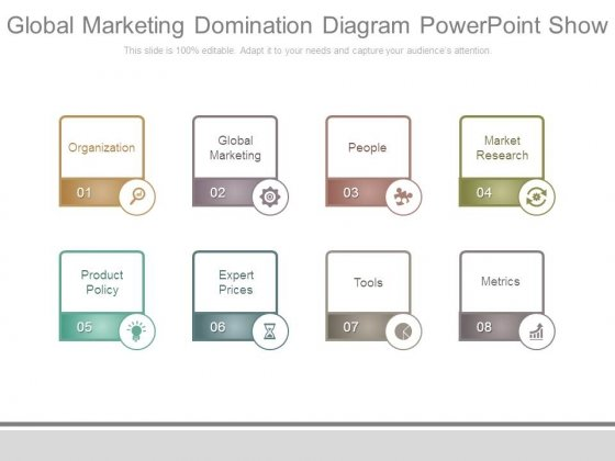Global Marketing Domination Diagram Powerpoint Show