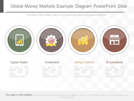 Global Money Markets Example Diagram Powerpoint Slide