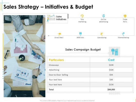 Global Organization Marketing Strategy Development Sales Strategy Initiatives And Budget Elements PDF
