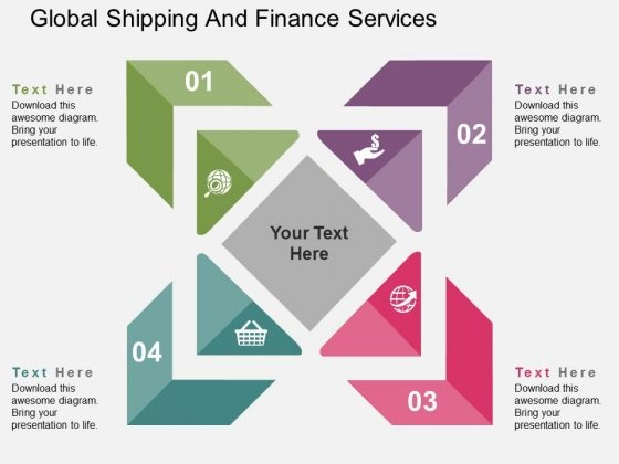 Global Shipping And Finance Services Powerpoint Templates