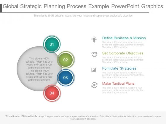 Global Strategic Planning Process Example Powerpoint Graphics