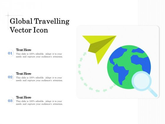 Global Travelling Vector Icon Ppt PowerPoint Presentation Inspiration Graphic Images PDF