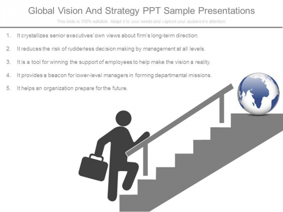 Global Vision And Strategy Ppt Sample Presentations