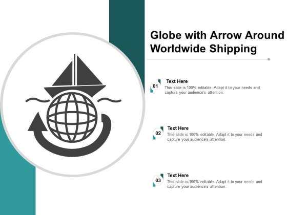Globe With Arrow Around Worldwide Shipping Ppt PowerPoint Presentation Icon Objects