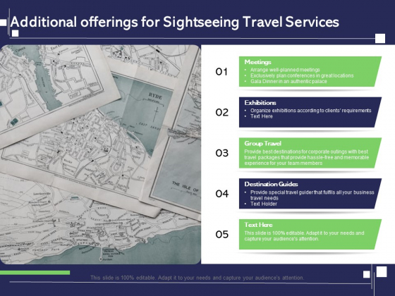 Globetrotting Tour Additional Offerings For Sightseeing Travel Services Ppt PowerPoint Presentation Styles Mockup PDF