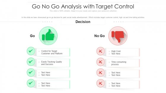 Go No Go Analysis With Target Control Ppt Slides Summary PDF