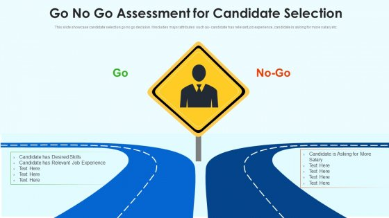 Go No Go Assessment For Candidate Selection Ppt Show Background PDF