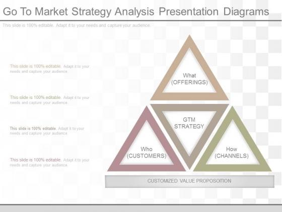 Go To Market Strategy Analysis Presentation Diagrams