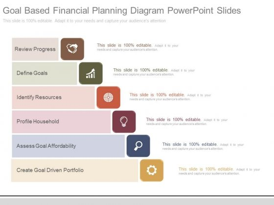 Goal Based Financial Planning Diagram Powerpoint Slides