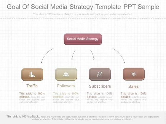 Goal Of Social Media Strategy Template Ppt Sample