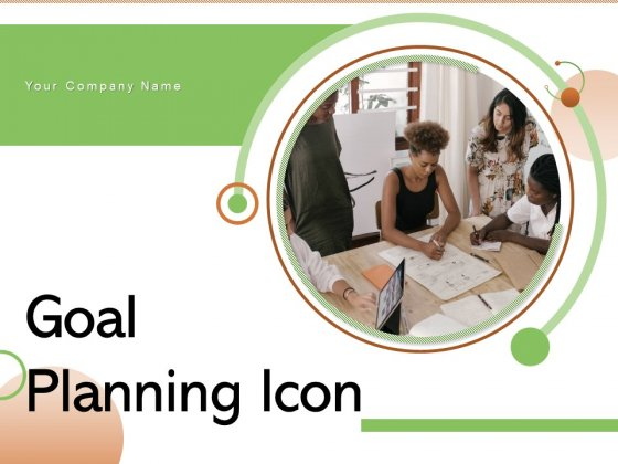 Goal Planning Icon Milestone Triangular Circle Ppt PowerPoint Presentation Complete Deck
