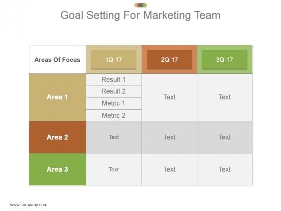Goal Setting For Marketing Team Powerpoint Slide Download