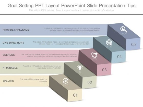 Goal Setting Ppt Layout Powerpoint Slide Presentation Tips