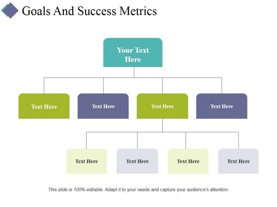 Goals And Success Metrics Ppt PowerPoint Presentation Pictures Shapes